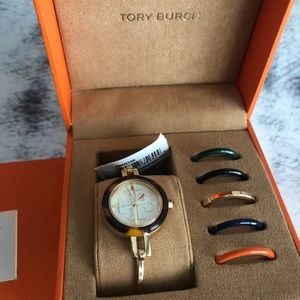 NIB Tory Burch watch interchangeable face colors
